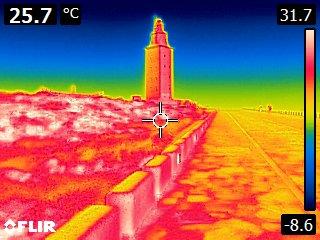 Torre de hércules termografía
