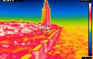 temografia-humedades-torre-de-hercules-coruña