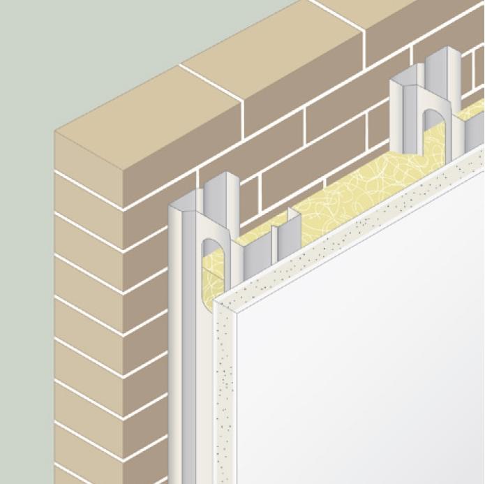 Aislamiento interior de fachadas - Aislar paredes interiores ...