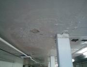 humedad agua techo columna