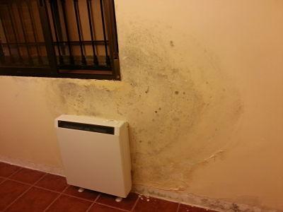 moho radiador calefacción humedad