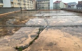 terraza entra agua humedades