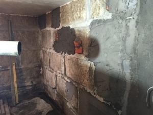 arreglar agua pared garaje