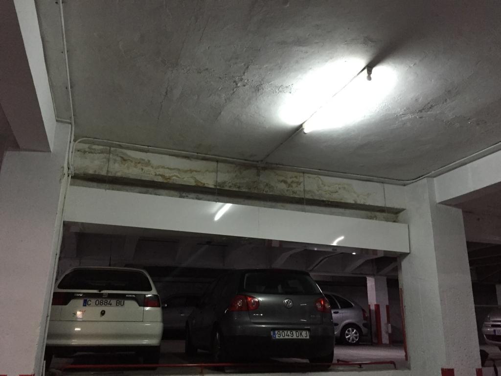 humedad techo sótano