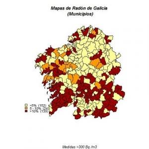 mapa radón galicia