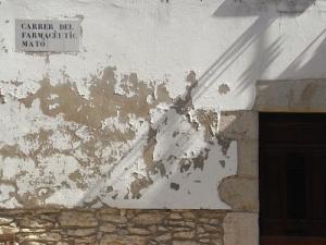 desconchado de fachada de piedra