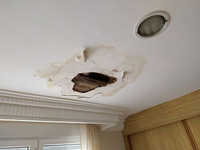 filtración techo humedad 1