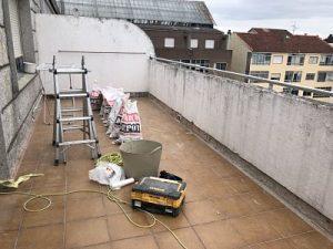 filtración terraza humedad