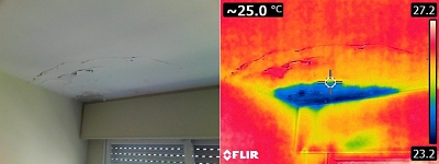 filtración terraza techo