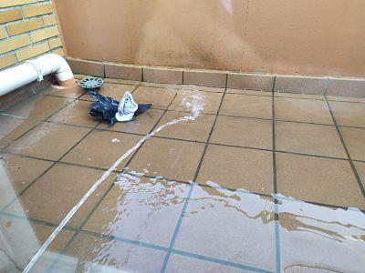 prueba agua terraza