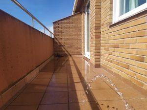 prueba estanqueidad terraza